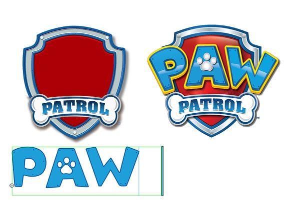 Coloriage Ecusson Pat Patrouille.Paw Patrol Font Ttf Instant Download Police D Ecriture Pat