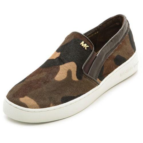 $175.00 Michael Michael Kors Keaton Slip On Sneakers - Duffle