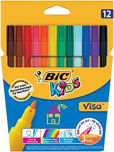 BIC Kids Visa Pack de Feutres de Coloriage: Description du produit: BIC 888695 Type de produit: Feutre de Coloriage Quantité: Carton de 12…