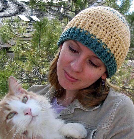 Free Crochet Rib Cuff Beanie Pattern. Free Crochet Women ...