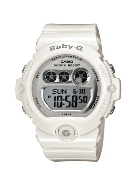 Casio Women's Baby-G White Resin and Gold-Tone Accented Large Digital Sport  Watch Cheap in 2015