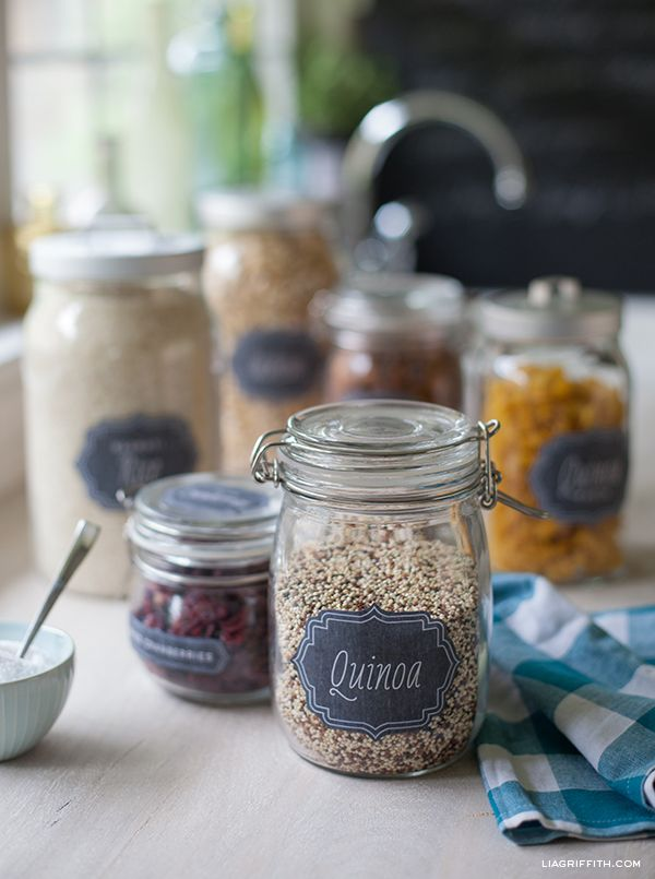 This mother lode of pantry labels is not only FREE and cute, but has 15 pages of labels, including spice labels and gluten free labels. This ought to do it! Via World Label
