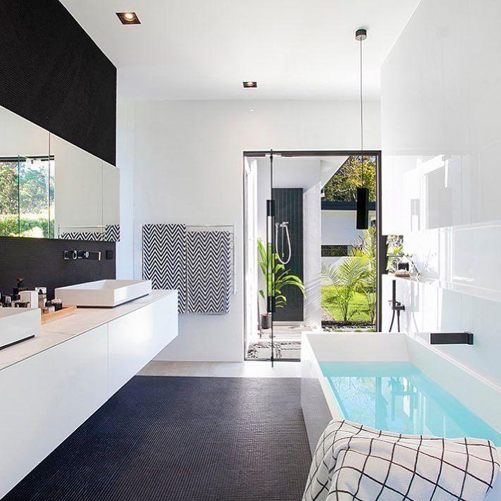 Modern #bathroom Ideas From @sarahwallerdesign Modern Lines Clean Spacesu2026