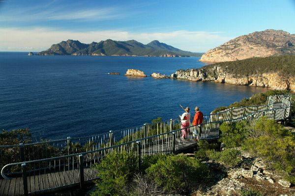 Coles Bay is the gateway to Freycinet National Park, east coast Tasmania. Photo by Dan Fellow for Think #Tasmania.