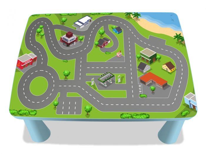 Stadt Aufkleber für IKEA MAMMUT Tisch (eckig) - MME03