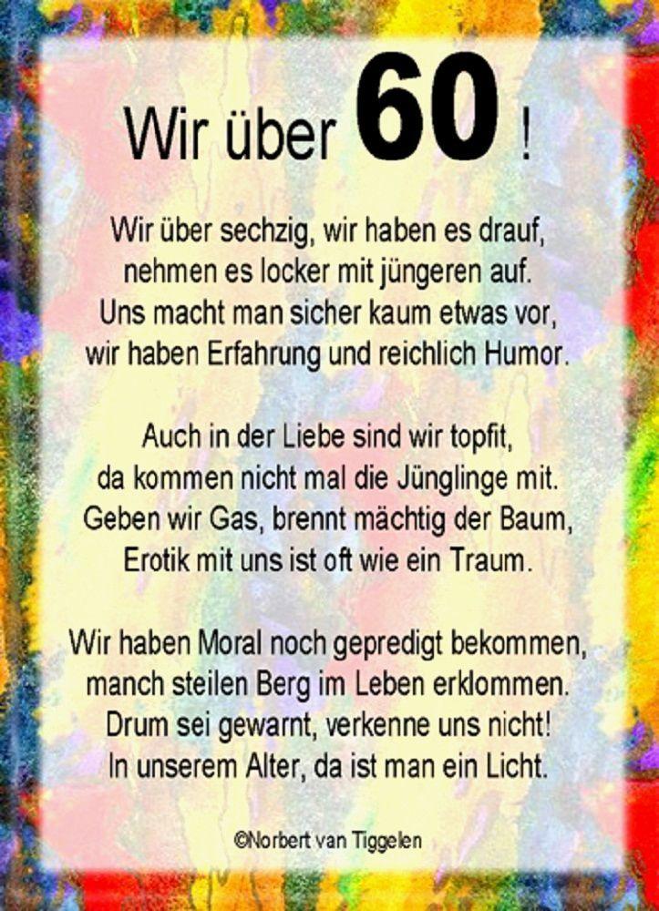 Kurze Gedichte Zum 60 Geburtstag Probe Wir Uber 60 Sinnspruche