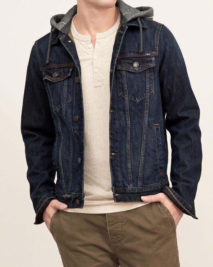 Mens Fleece-hood Denim Jacket | Mens New Arrivals | Abercrombie.com