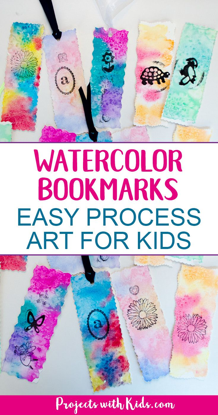 Unique Watercolor Bookmarks Easy Process Art For Kids Unique Art