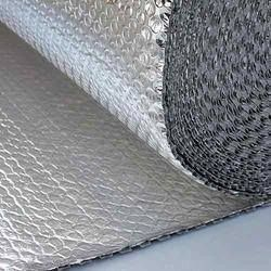 #Bubble_Insulation Sheet Aerolam Super contains single layer of fire retardant air bubble film laminated with pure aluminium foil on both the sides. Specifications: Product Thickness - 4 mm Roll Dimension - 1.2 mtr x 40 mtr Bubble Size - 10 mm x 4 mm Reflection Ratio - >97% http://aerolaminsulations.com/bubble-wrap-insulation.php