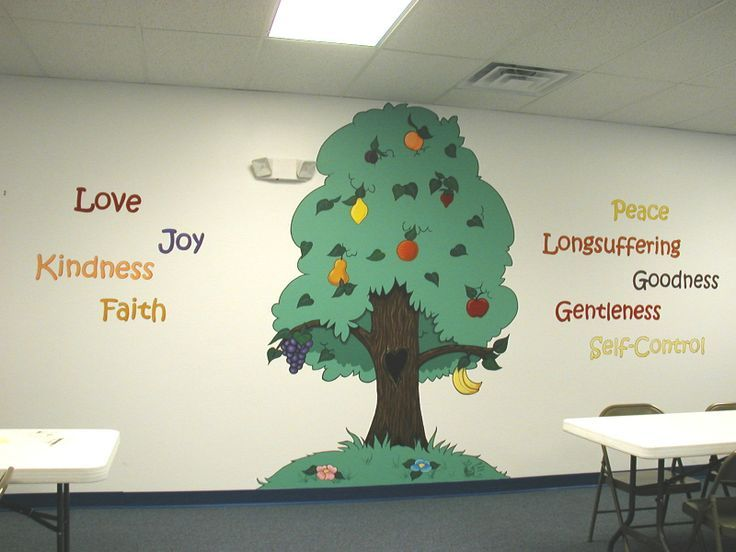 Good Sunday School Room Murals | Fruit Of The Spirit Murals | Kingdom Christian  Center Part 31