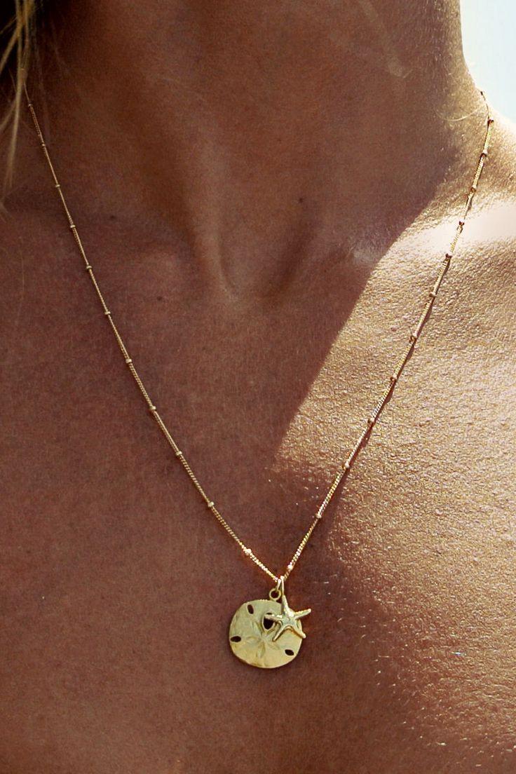 Soleil Blue Beachcomber necklace.