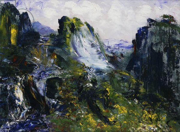 Jack B Yeats Sleep Beside Falling Water, (oil on canvas)