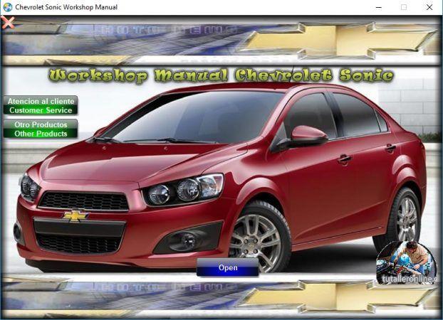 Manual De Taller O Reparacion Chevrolet Sonic New Aveo 2012 2016