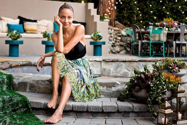 Nicole #Richie's Stylish Backyard, Revealed!