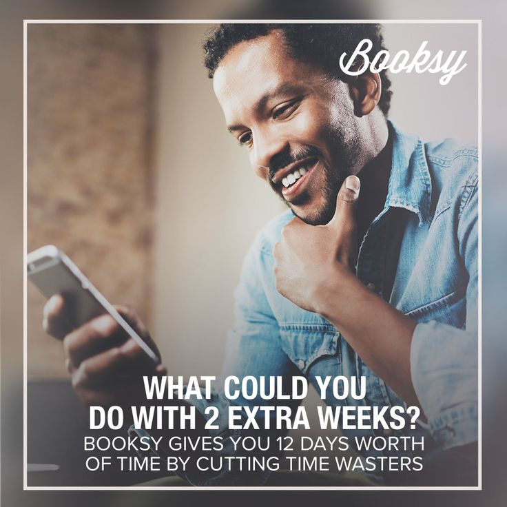 Have your ever thought about having so much extra time? With Booksy it is possible to have 2 extra weeks! Try now on your smartphone.
