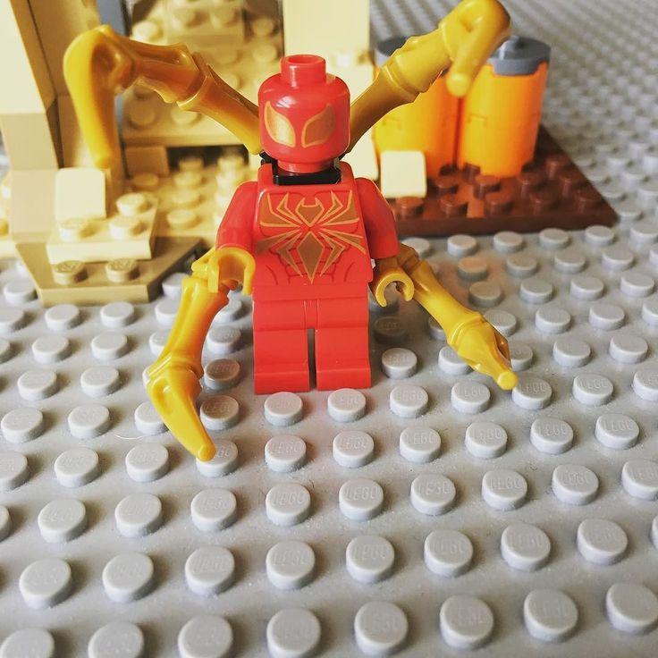 The iron spider. . . . . . #brick_central #quicksilver #jessicajones #daredevil #teamstark #lego #legos #thanos #deadpool #spiderman #hulk #captainamerica #civilwar #ironman #avengersageofultron #thor #teamironman #xmen #captainamericacivilwar #antman #toyslagram_lego #toys by brick_soldier