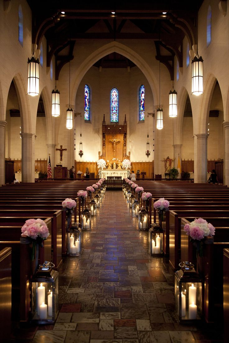Best 25 church aisle decorations ideas on pinterest pew vintage look for a cathedral wedding easy to create with partylite pillars and lanterns junglespirit Image collections