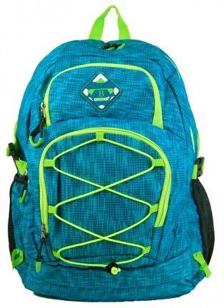 Velký batoh NEWBERRY do města / do školy HL0911 aqua modrá - Kliknutím zobrazíte detail obrázku.