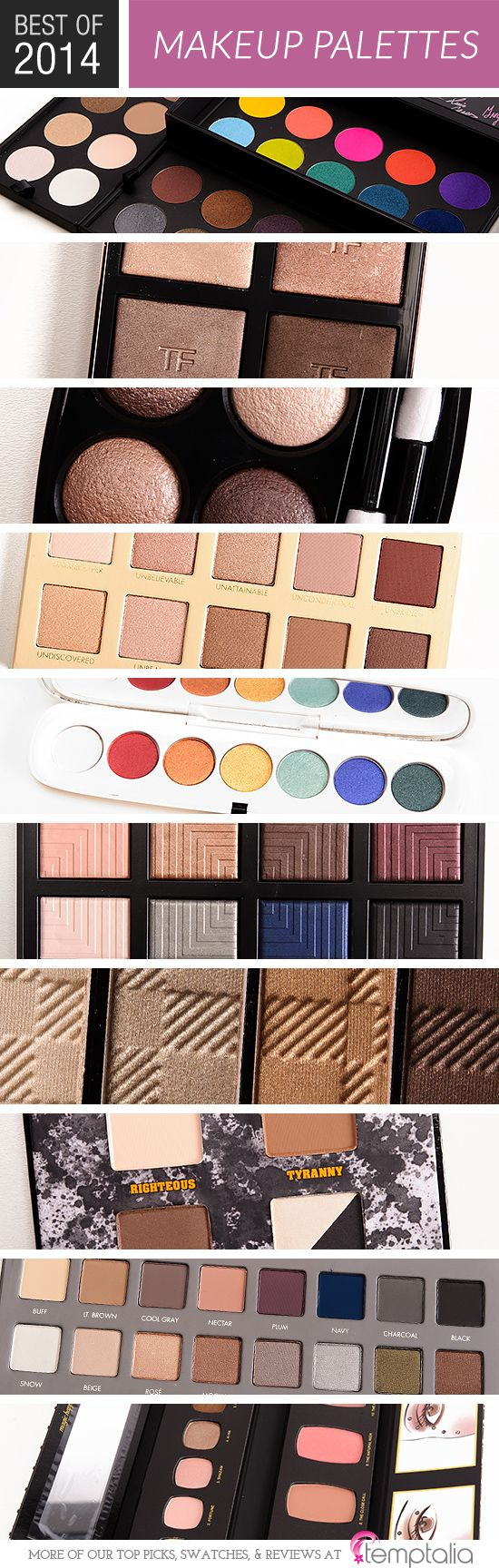 """Competition was stiff! I reviewed around 150 quads, palettes, and duos this year (there are actually 227 posts filed under """"makeup palettes,"""" but this cate"""