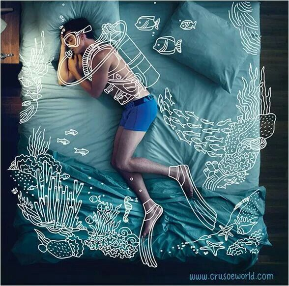 http://www.crusoeworld.com Dunno why they made this, but can definitely identify with the picture! Scuba Dreaming :)