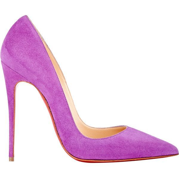 Christian Louboutin So Kate Pumps ($675) ❤ liked on Polyvore featuring shoes, pumps, heels, kengät, christian louboutin, purple, christian louboutin shoes, heels & pumps, high heel shoes and purple pointed toe pumps