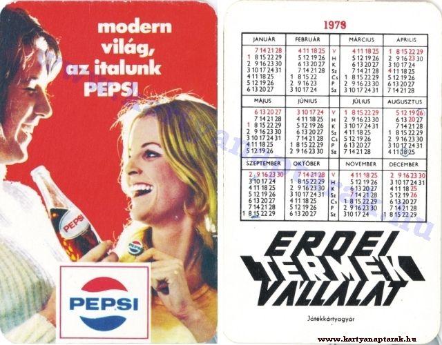 Pepsi Cola - 1973 0102 - Régi magyar kártyanaptárak