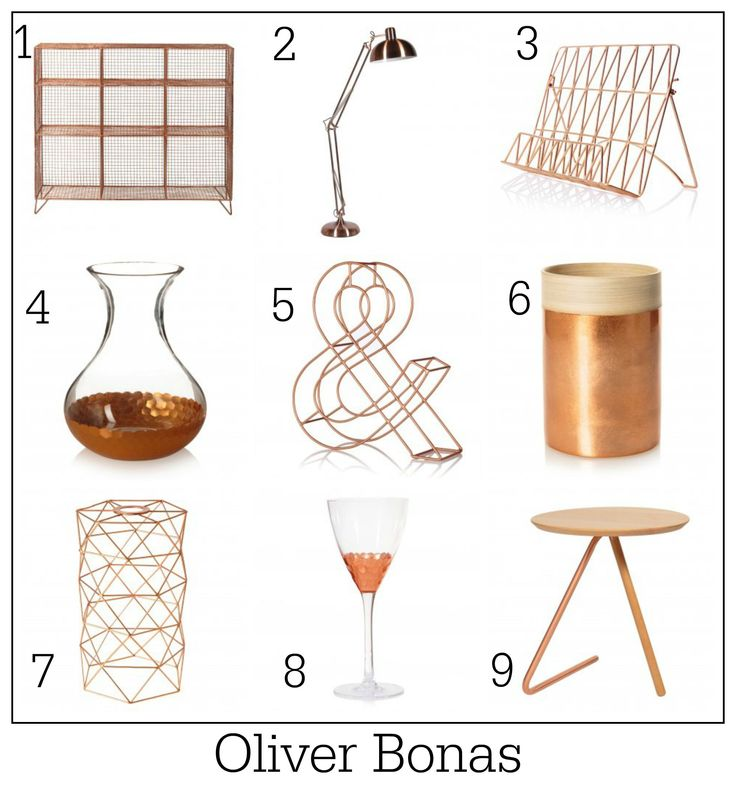 Copper crush: 100 ways with copper. Homeware ideas from Oliver Bonas
