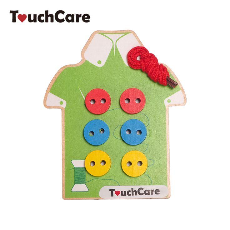 Montessori Eğitim Çocuk Oyuncak Boncuk Bağlama Kurulu Ahşap Düğmeler Erken Eğitim Öğretim Yardımcıları Bulmacalar Oyuncaklar Toddler Dikmek