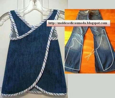 Delantal con jeans