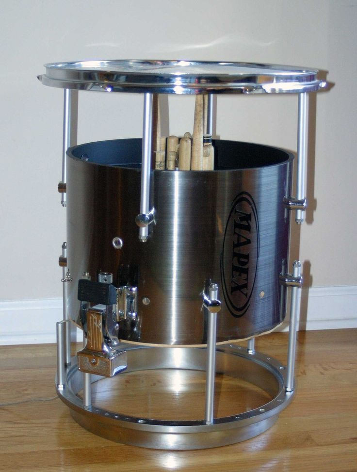 Marching Snare Drum Table - I have just the spot in my office for this!