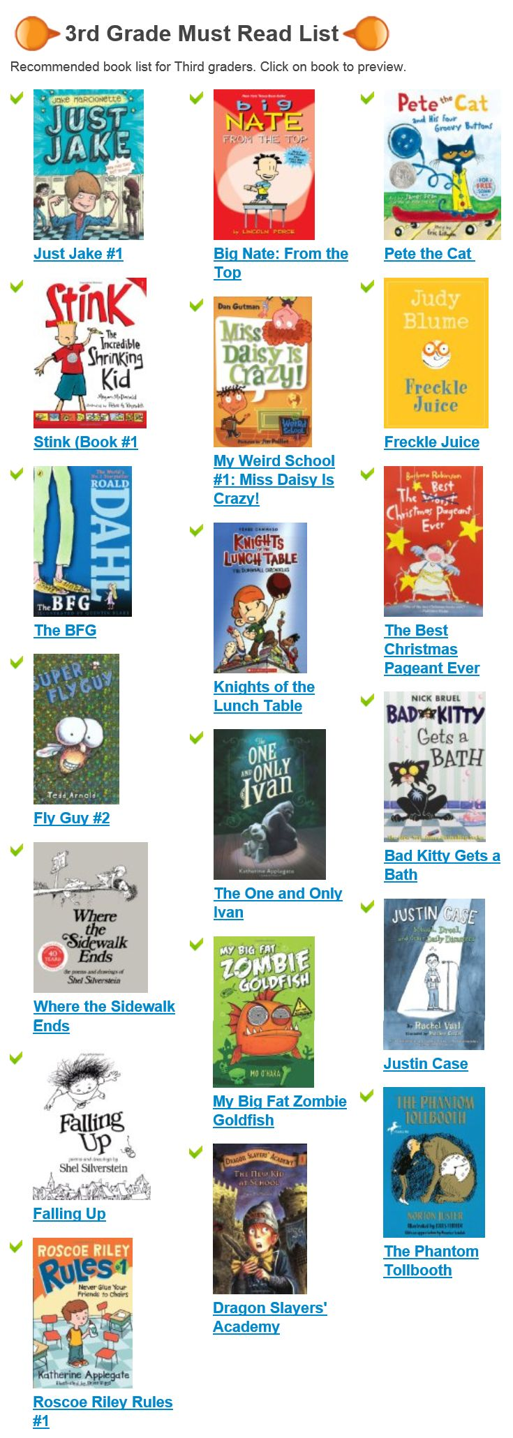 Top Most Popular 3rd Grade Book Lists For Kids Today!