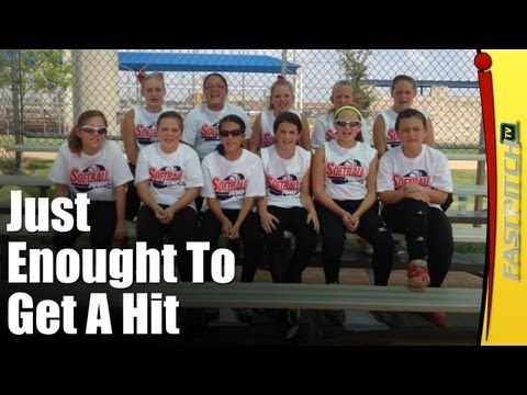 """The Just Enough To Get A Hit Softball Cheer. Find more softball cheers at http://Fastpitch.TV  """"Come on (Team Name) you can do it, put a little wiggle to it, not a lot, just a bit, just enough to get a hit."""""""