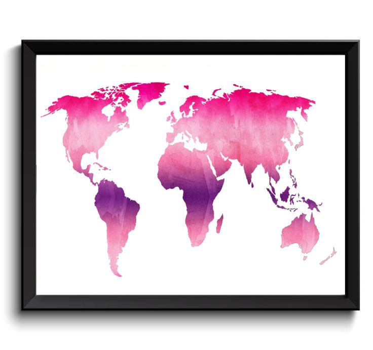 133 best state wide world map art images on pinterest map art pink purple world art poster printable world map digital world map art violet gumiabroncs Image collections