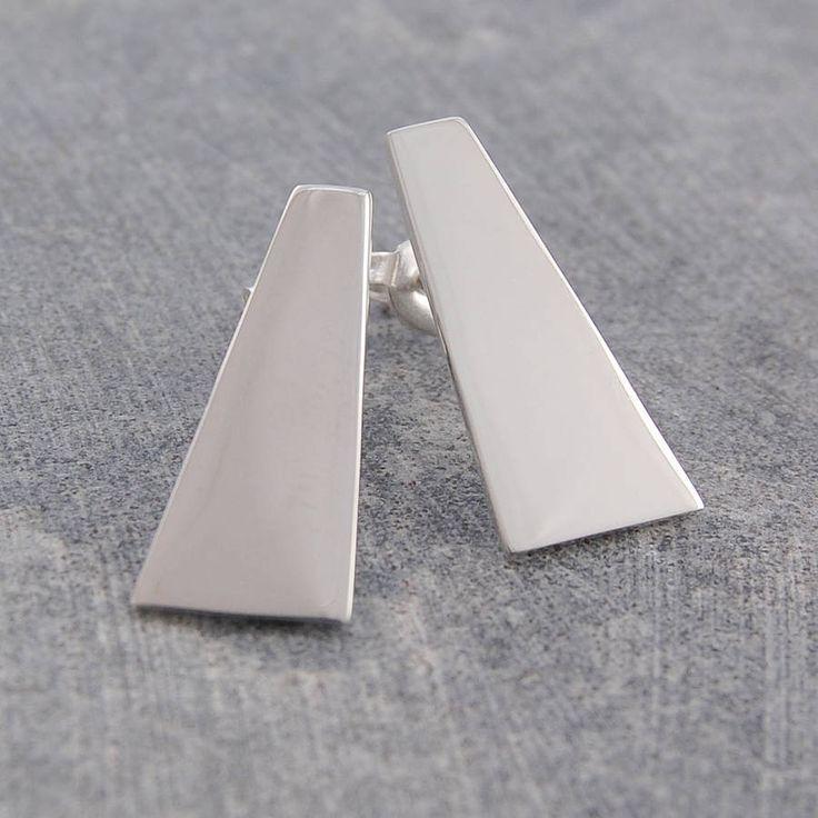 geometric sterling silver stud earrings by otis jaxon | notonthehighstreet.com