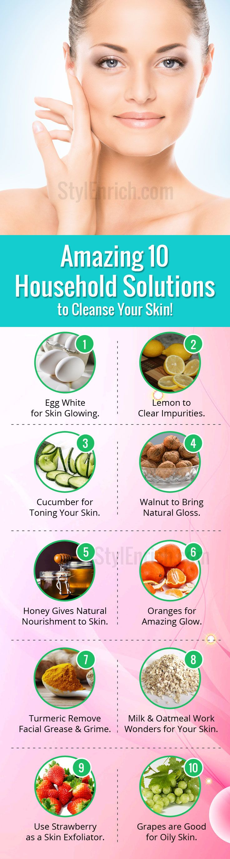 If you want to attain spot free, healthy and glowing skin, you can use common and wallet friendly #DIYSkinCare solutions to cleanse your skin that can make others envious. Here are the top 10 household solutions that can be used to brighten up complexion.