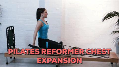 Pilates Reformer Chest Expansion Exercise