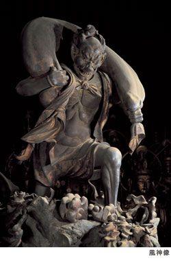 God of Wind at Sanju Sangen Do 風神像