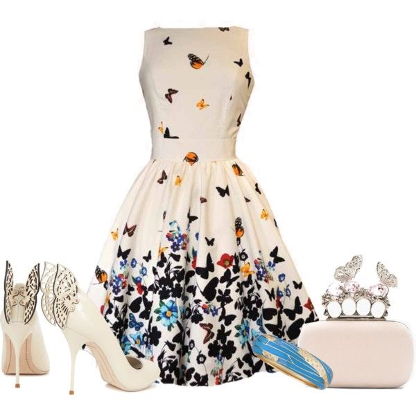 Love the dress but the shoes and bag need to take a hike!