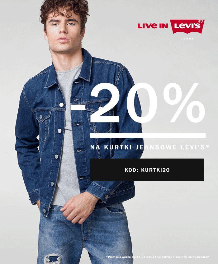 -20% na kurtki Jeansowe Levi's® Kod: KURTKI20 Promocja ważna do 18.09.2015 i nie dotyczy produktów na wyprzedaży. _ #jeans #denim #jacket #levis #liveinlevis #levisjacket
