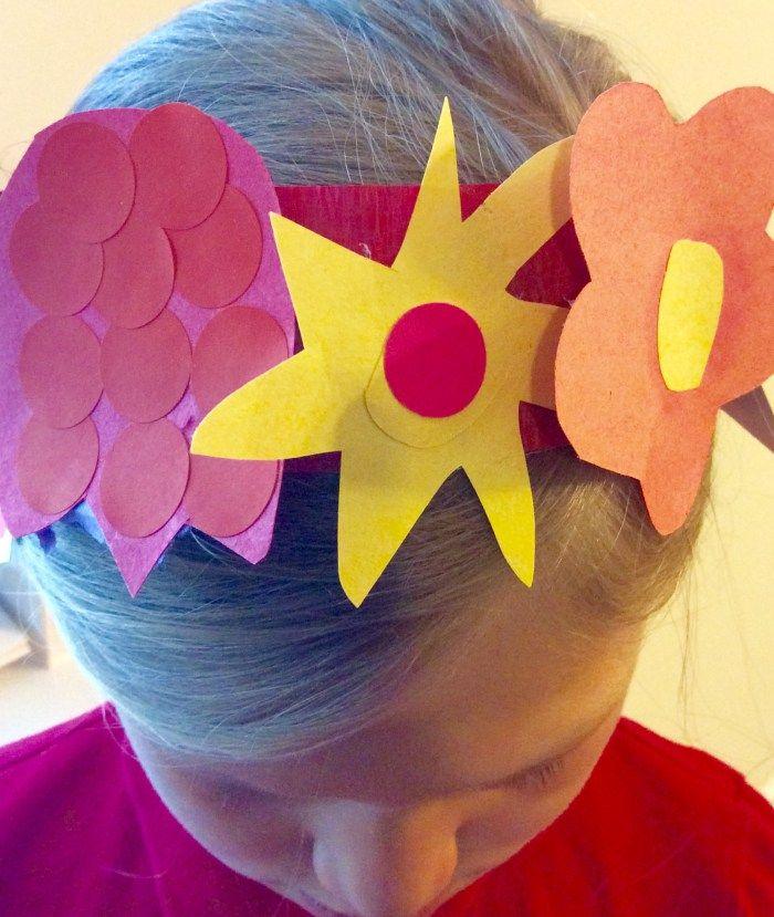 frida kahlo inspired paper flower headband for kids