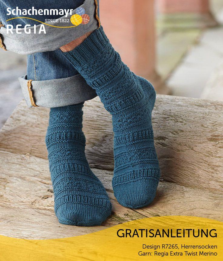 Der fantasievolle Streifenlook gibt dem farblich dezent gehaltenem Sockendesign den besonderen, klassischen Look. Gestrickt aus #Regia für spürbar weichen Tragekomfort.