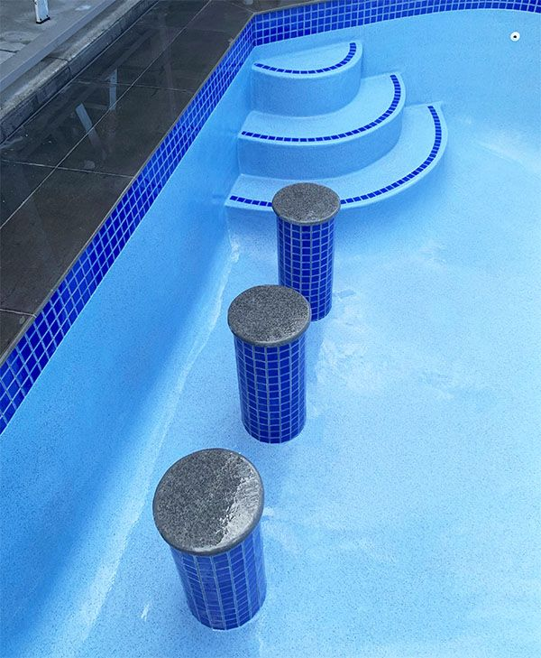 Pool Seating Area Building Custom Made | Changing the shape ...