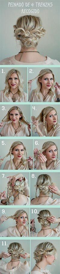 Peinados modernos de 4 trenzas / Peinados con trenzas