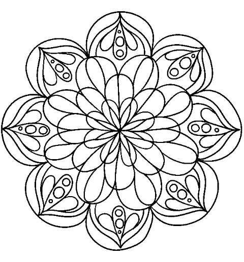 a generic term for any diagram chart or geometric pattern that represents the cosmos metaphysically or symbolically a microcosm of the universe - Coloring Pages Patterns Geometric