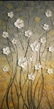 Ручная роспись маслом когда-то цветочные картины маслом стены искусства современная живопись маслом на холсте стены искусства декора(China (Mainland))
