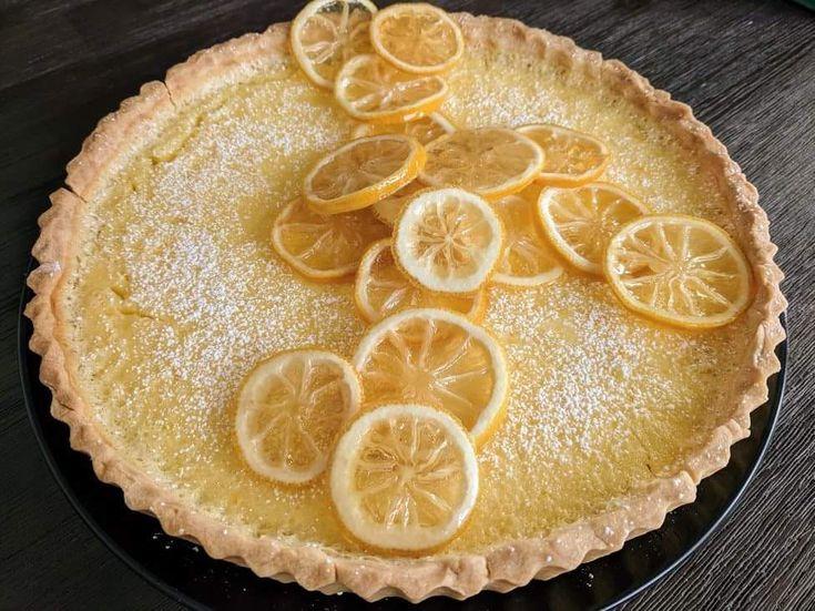 Lemon Tart with Shortbread Crust