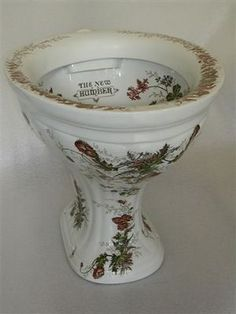 Image result for matching floral painted toilet, bidet and sink 'The New Humber' Polychromatic P-Trap Outlet Victorian WC C.1890. ' a repro makes more sence/cents
