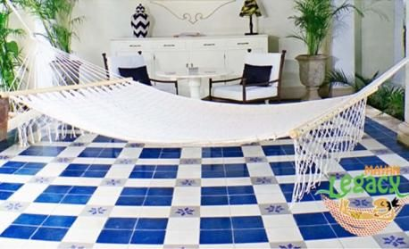 Cream Colour Resort Style Without Fringe Hammocks By Mayan Legacy - outdoor furniture online Australia