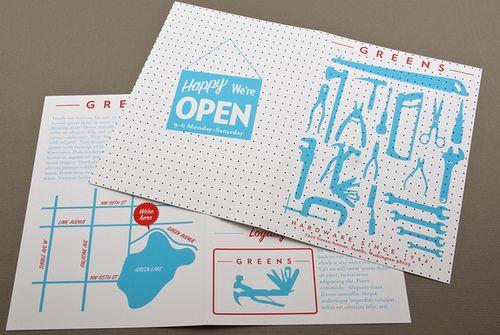 Hardware Store Brochure design template by Crispin Finn. Showcased on Inkd.com.