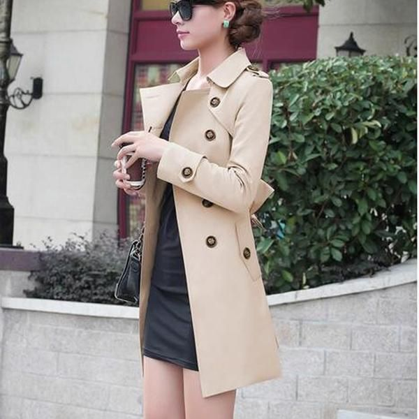 Women Trench Coat Double Breasted Trench Long Windbreaker!  trench coat|trench coat outfit|trench coat long|trench coat classic| trench coat london fog|trench coat women's|trench coat black|trench coat burberry| trench coat dress|trench coat short|trench coat tan|trench coat pattern| trench coat wool|trench coat winter|trench coat 2018